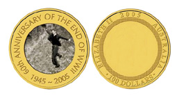 tungsten alloy gold coin
